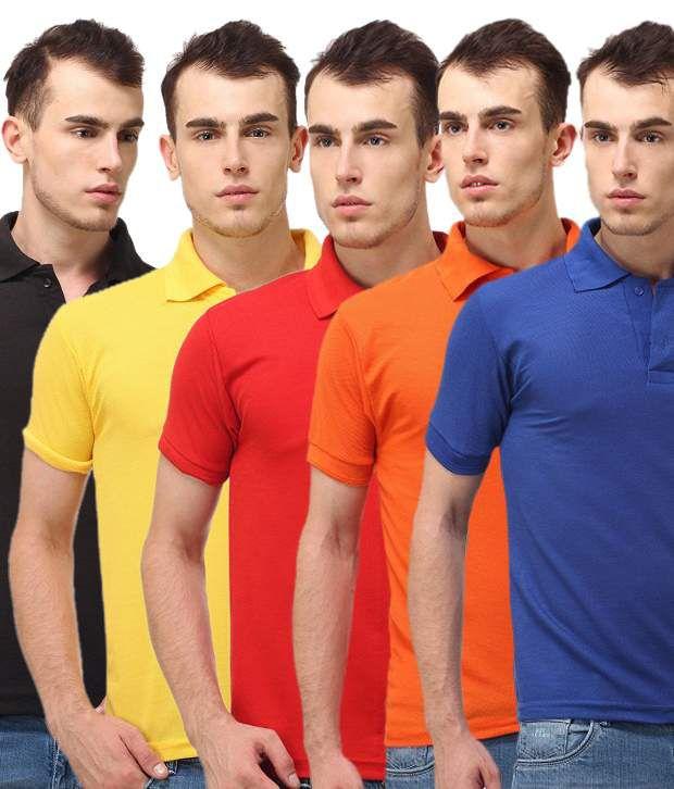 Lime Multi Cotton T-shirt (combo Pack)