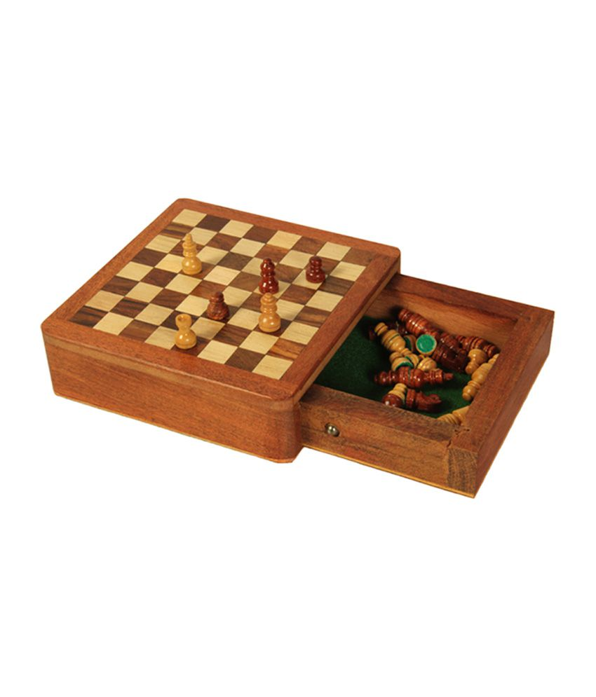 Avm 5 Inch Magnetic Chess Set With Inside Drawer & Coins