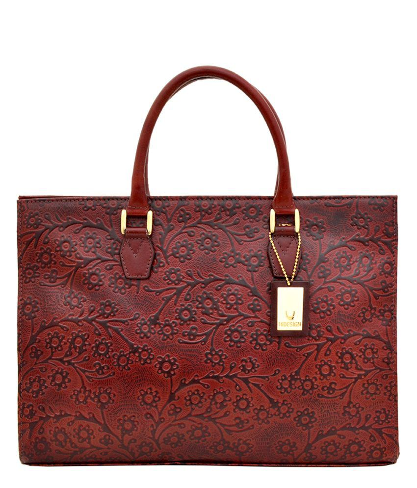 Hidesign KESTER Embossed brown Tote Bag