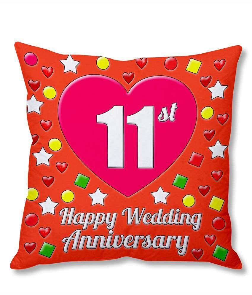 Photogiftsindia 11th Wedding Anniversary Cushion Cover