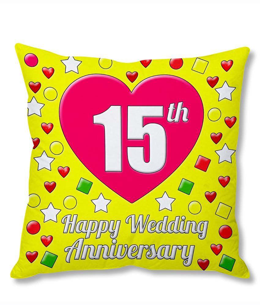 Photogiftsindia 15th Wedding Anniversary Cushion Cover Buy Online