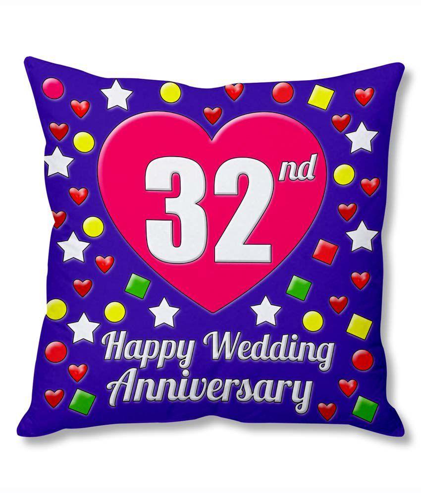 32 Wedding Anniversary Gifts: Photogiftsindia 32nd Wedding Anniversary Cushion Cover