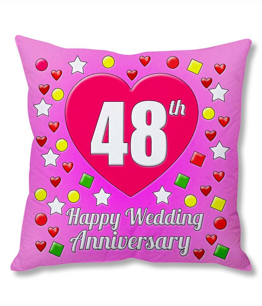 48th Wedding Anniversary Gift Ideas: Photogiftsindia 48th Wedding Anniversary Cushion Cover