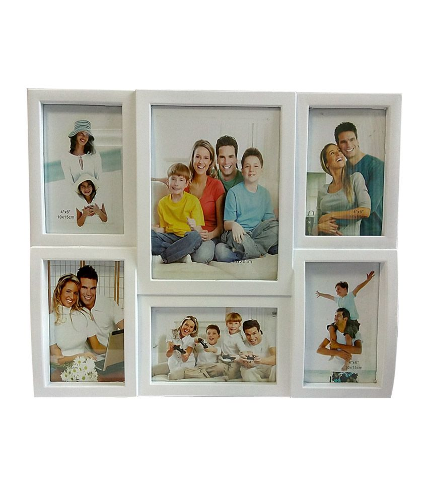 Aadi Shakti Brown Wall Decor Six Photo Family Collage Picture Frame ...