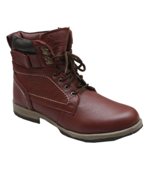 Leather Like Leather Boots For Men