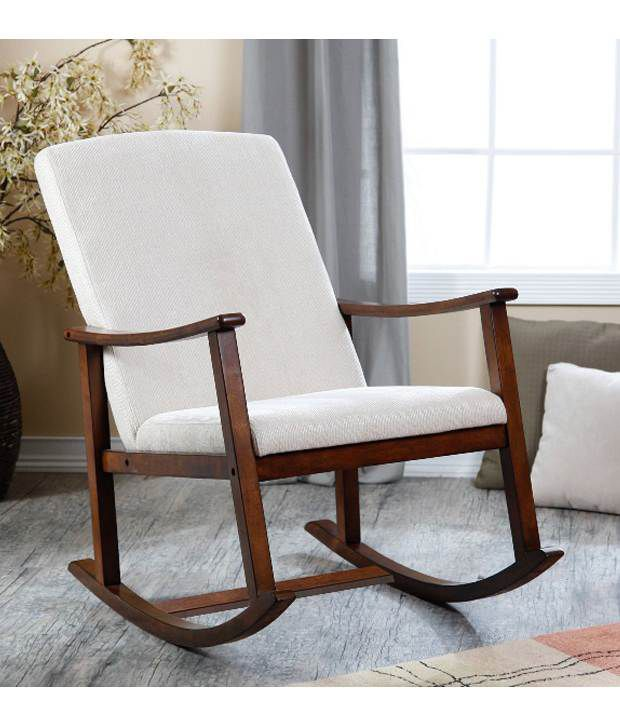 Lifeestyle Sheesham Wood Rocking Chair With Cushion Buy Lifeestyle