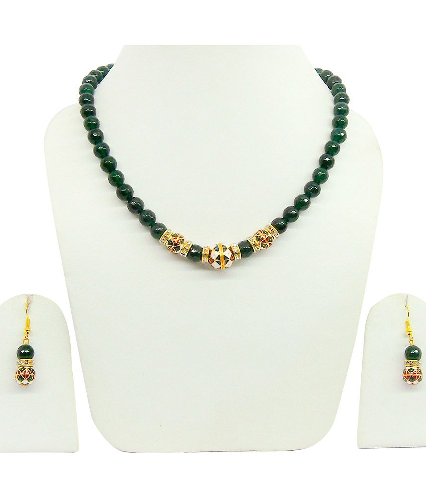 ruby products emerald of temple copy set and black earring studded designer collection sets stri beads necklace