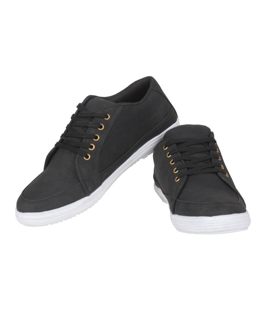 kraasa black canvas s casual shoes buy kraasa black