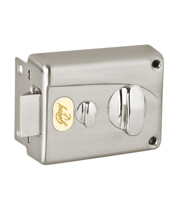 Buy Metallic Satin Godrej Rim Premium Night Latch Pin