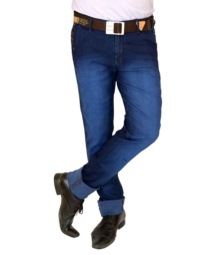 Claim Blue Cotton Jeans