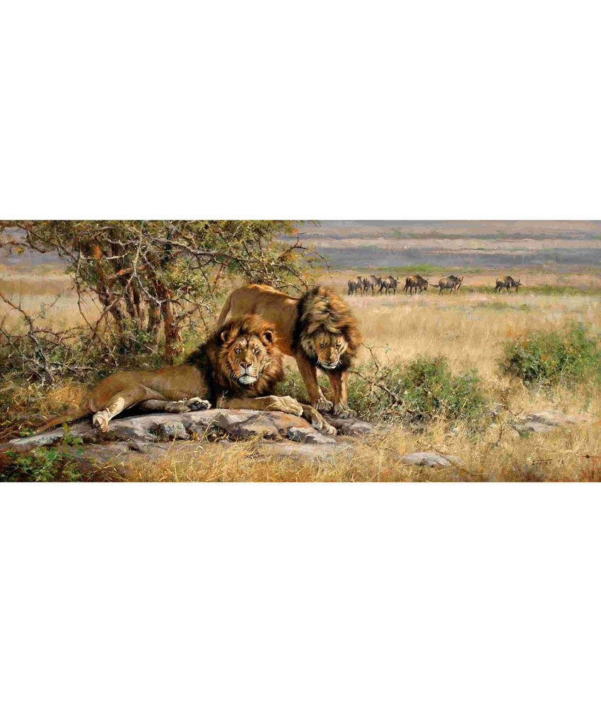 Elite Collection Digitally Printed Frameless Canvas Painting Animal-0004