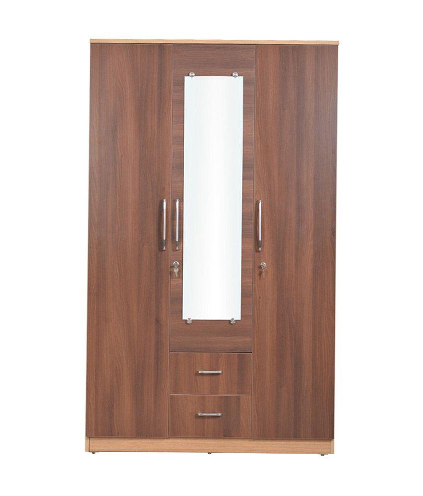 Welkraft-Compressed-Wood-Brown-Finish-Wardrobes-In-Multi
