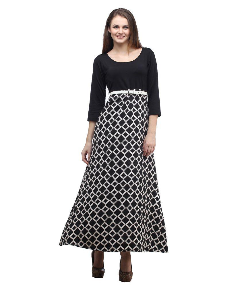 Cottinfab Rayon A Line Dresses