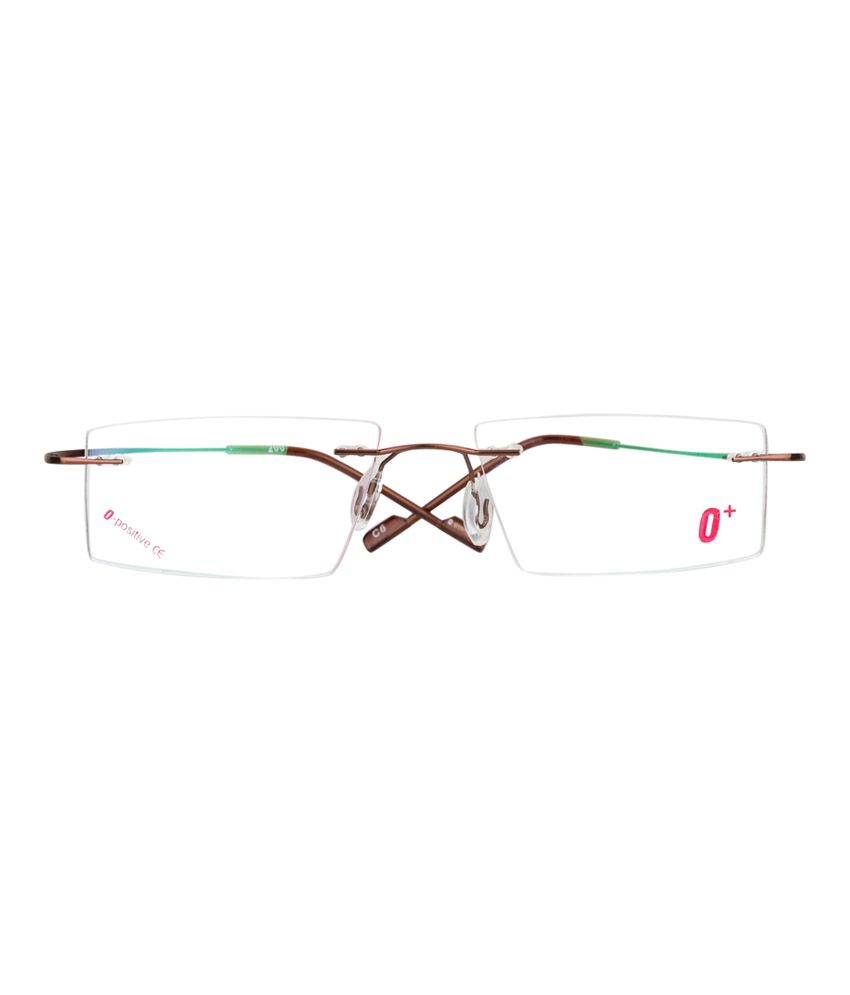 O Positive Square Thin Sleek And Light Weight Rimless Frame