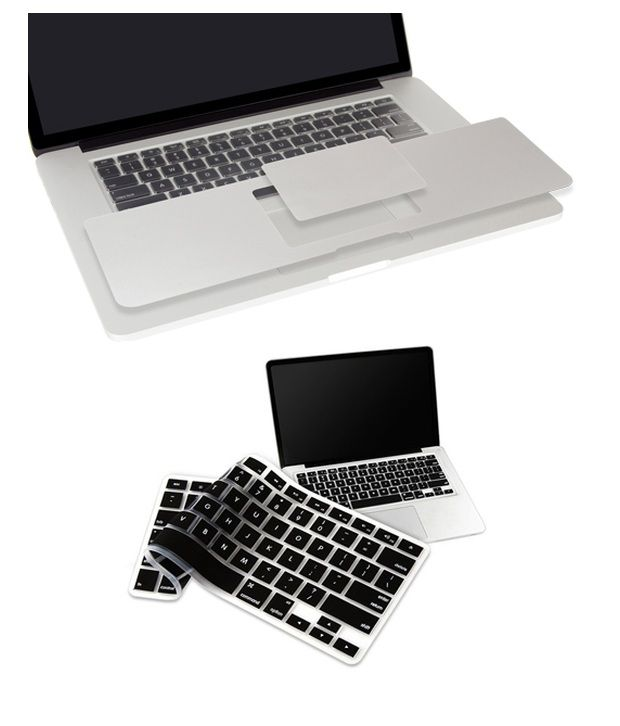 Pindia Apple MacBook Retina 15 15.4 Inch A1398 Palm Guard with Black Keyboard Cover