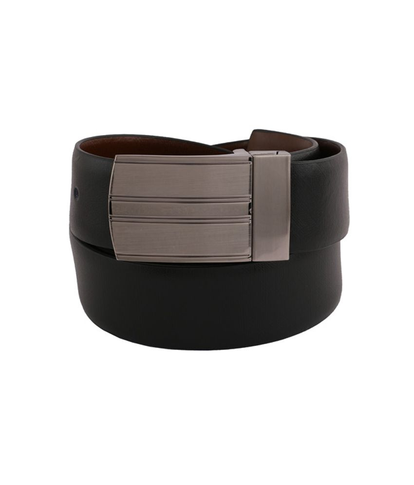 Vinson Massif Ligero Black Brown Reversible Leather Belt