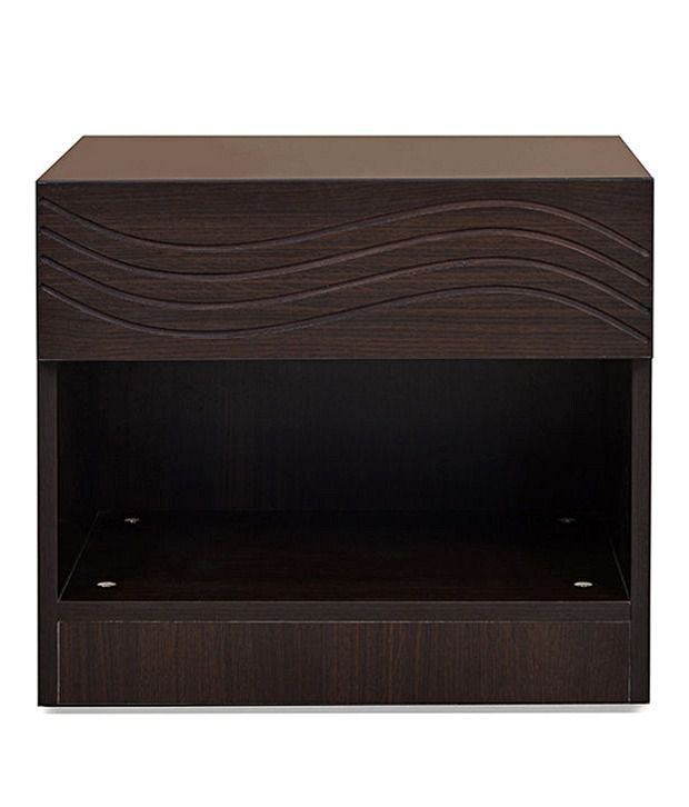 @home By Nilkamal Wood Brown Finish End & Side Tables In Brown