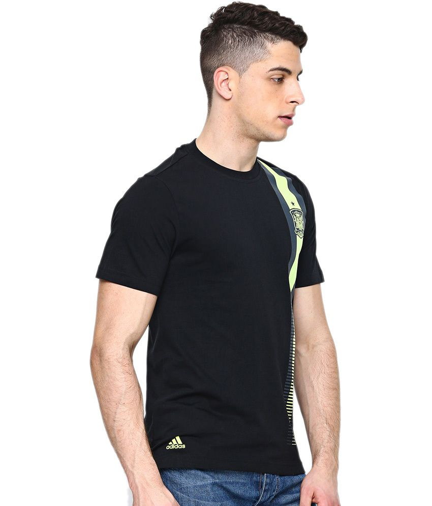 Black t shirt snapdeal -  Adidas Black Cotton Round Neck Half Sleeve T Shirt