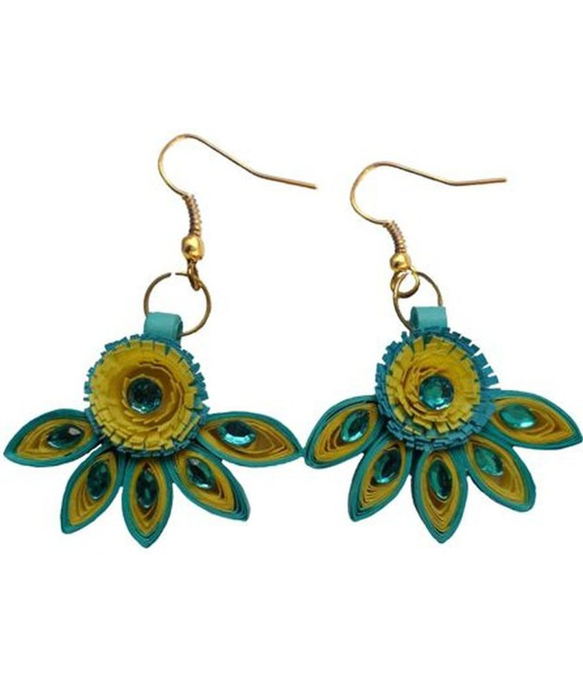 Quilling Papers Earrings: Designers Collection Paper Quilling Earrings For Women