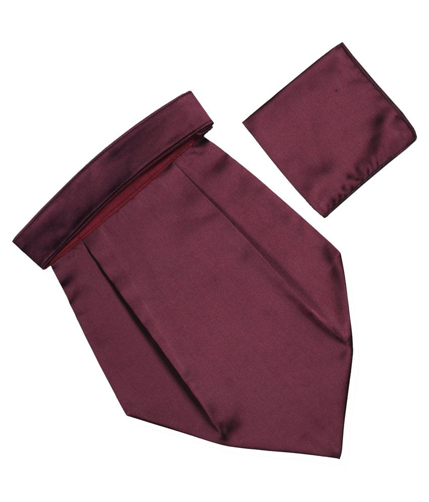 239072363bbbd Classique solid dark wine color Italian design Premium Wedding Cravat with  matching Pocket Square: Buy Online at Low Price in India - Snapdeal