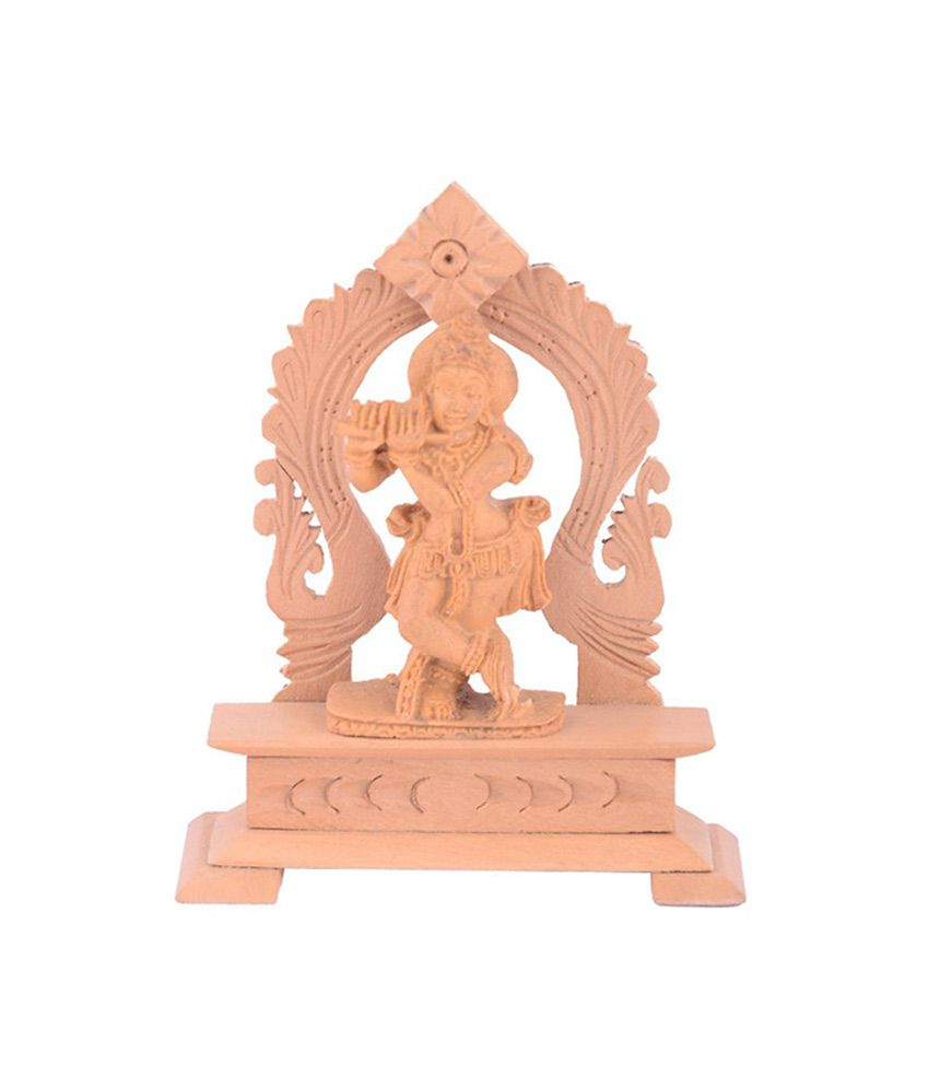 Sheela's Arts & Crafts Beige Resin Krishna Idol