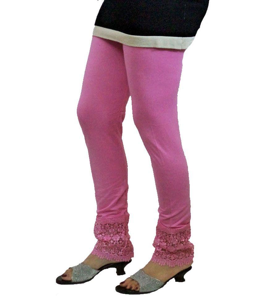 8ec40aa09f Almos Pink Viscose Leggings For Women