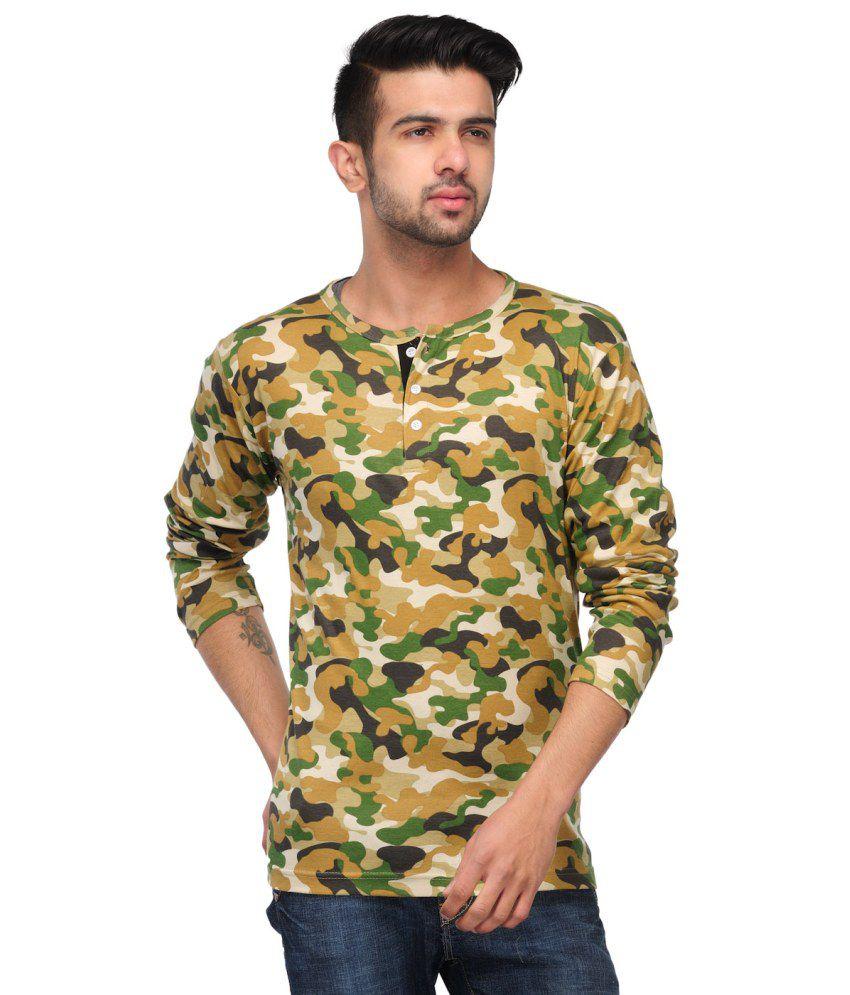 Comoros Brown Cotton Henley T-shirt