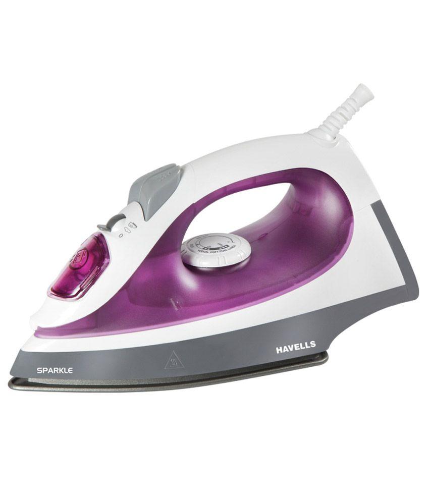 No Steam Iron ~ Havells steam iron sparkle w purple price
