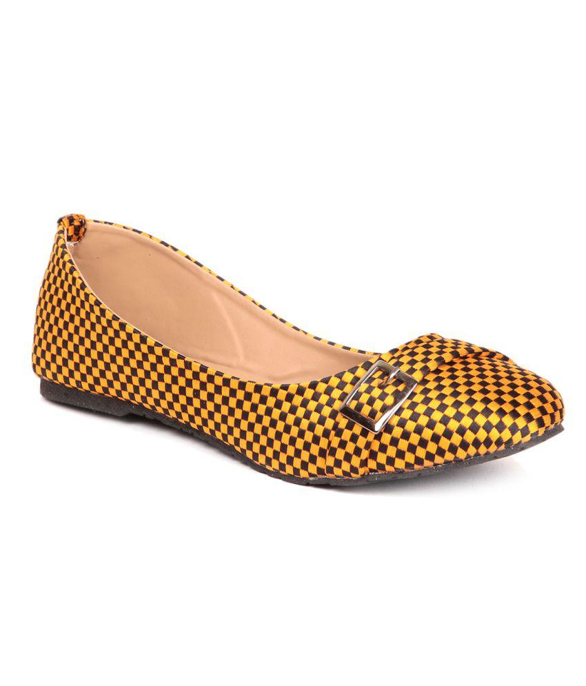 Pede Milan Yellow Ballerinas