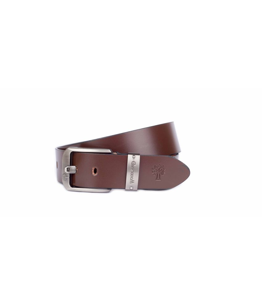 Woodland Men's Leatherite Stylish Belt In Brown Colour