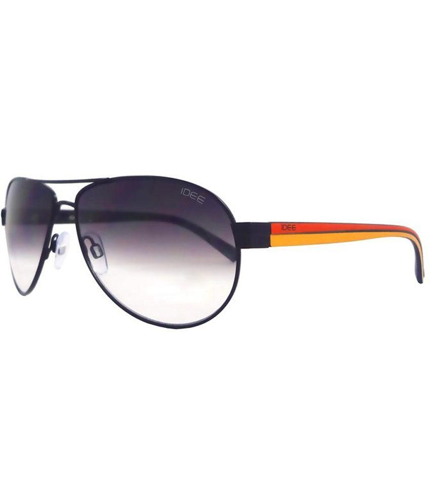 Idee Oval Metal Aviator Sunglasses For Men