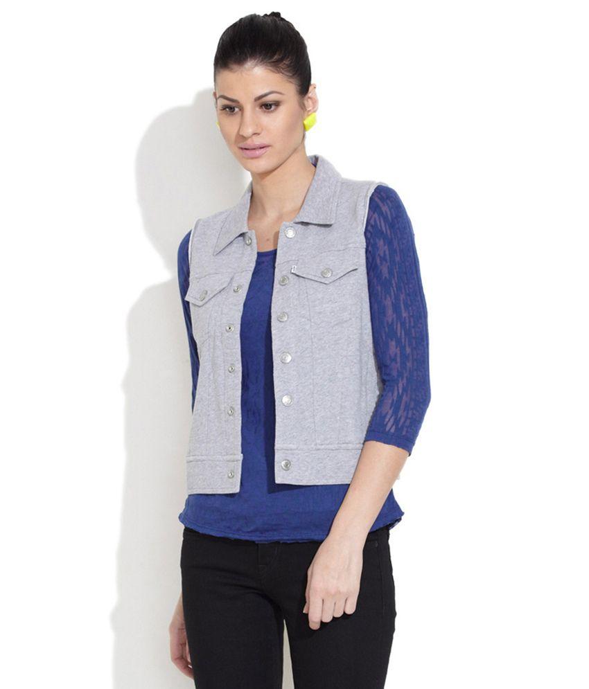 Levi'S Gray Cotton Jackets