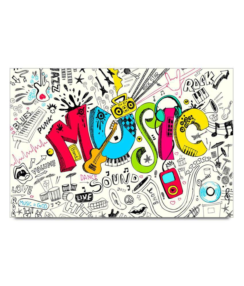 Shopmantra music doodle art poster buy shopmantra music for Buy art posters online