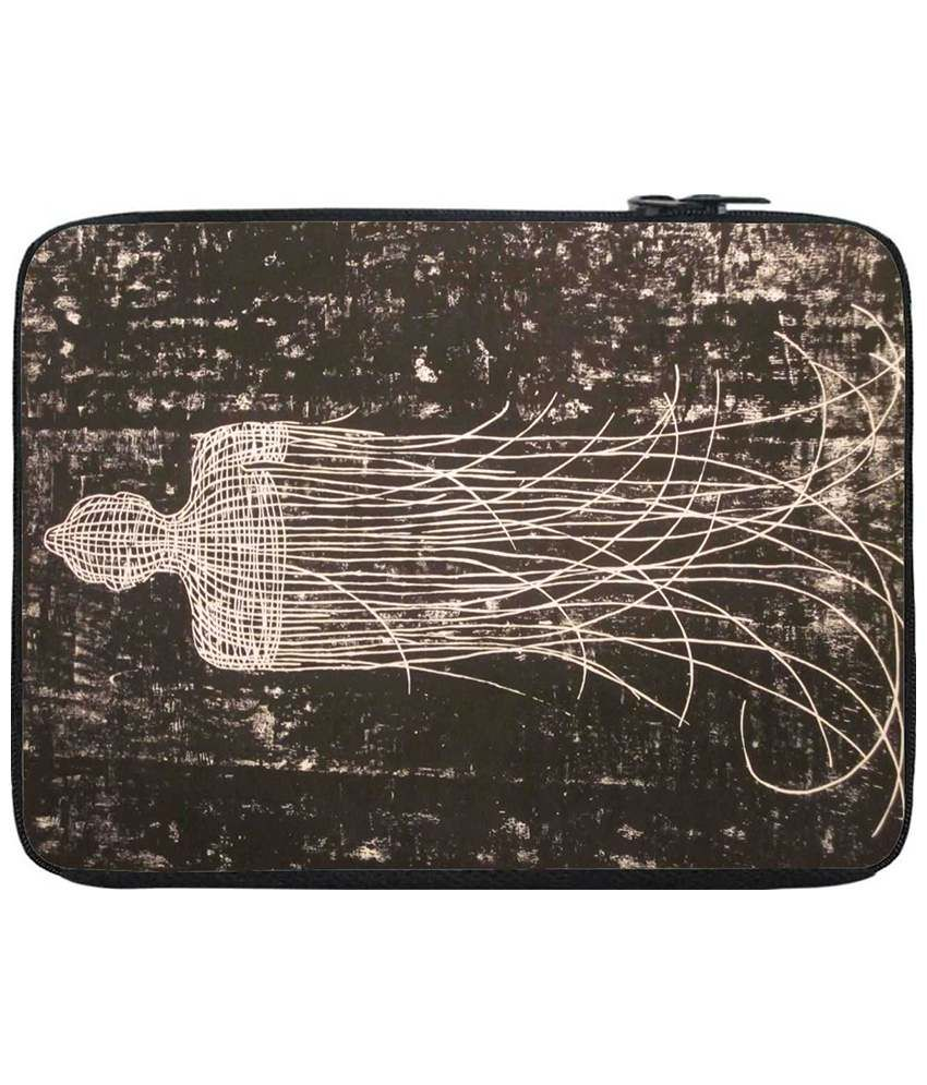 Snoogg Brown Laptop Sleeve