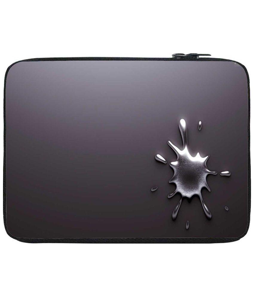 Snoogg Gray Laptop Sleeve