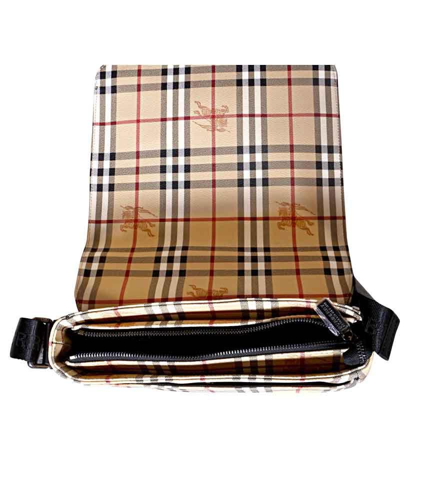 a81f8a732148 Burberry Black And Checks Brown Original Leather Men Bag - Buy ...