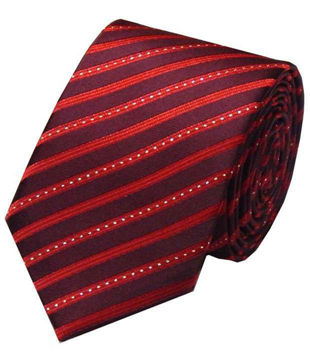 Navaksha Maroon Micro Fibre Slim Necktie