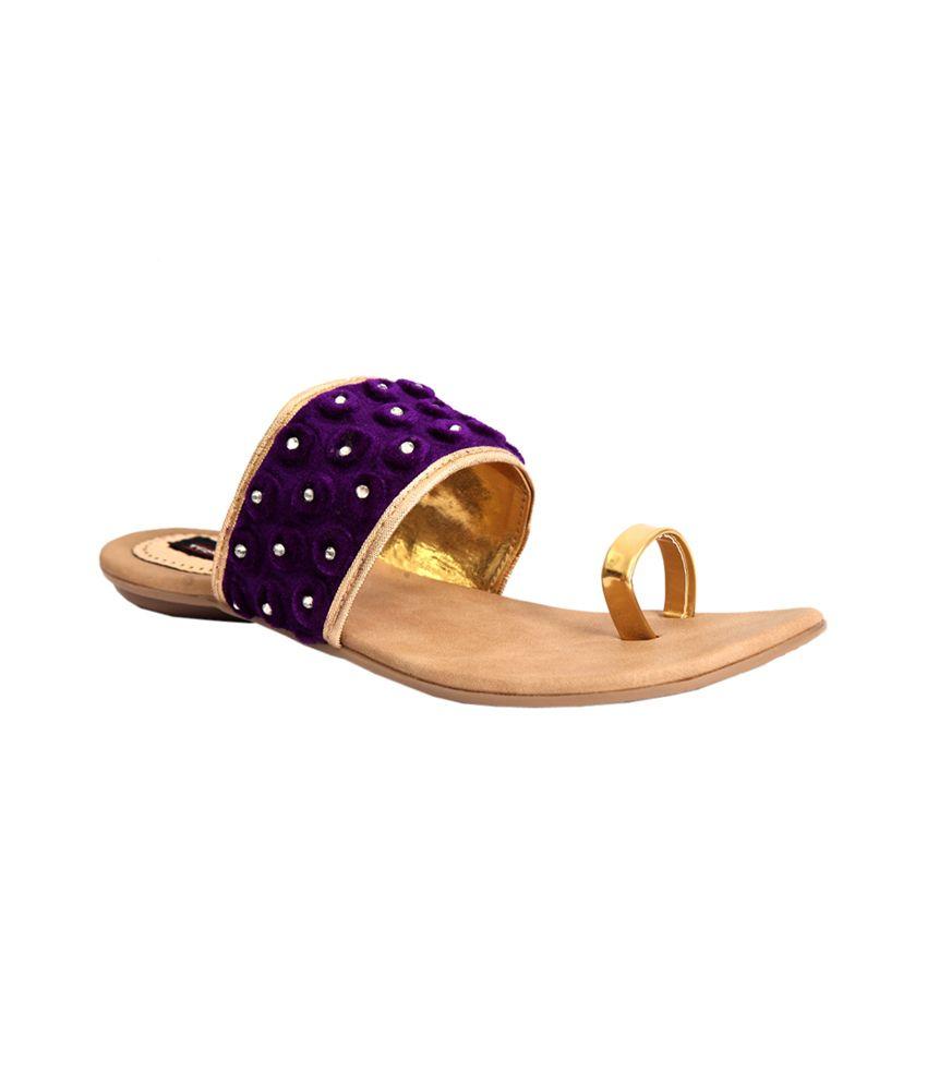 Trilokani Purple Flat Slipper