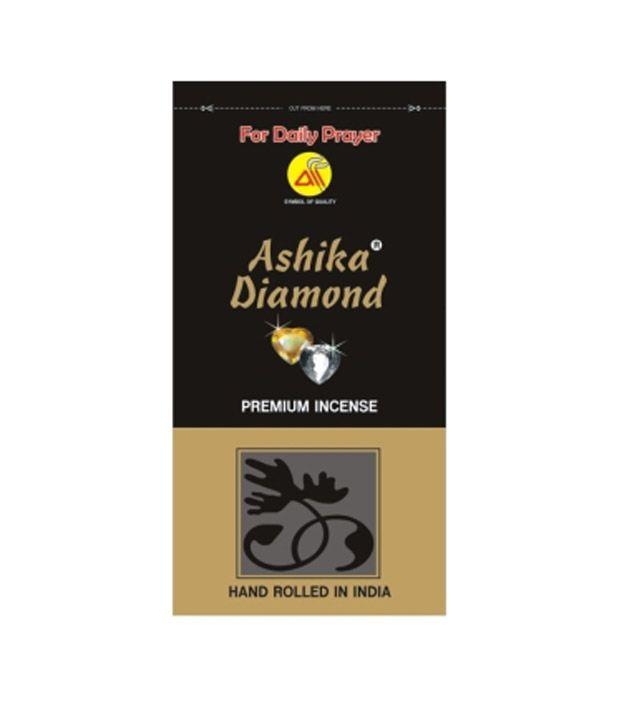 Ashika's Diamond Zipper Pouch For Daily Prayer 150 Grams Incense Sticks