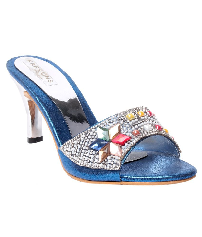 Bluet Blue Stiletto Heeled Slip-on