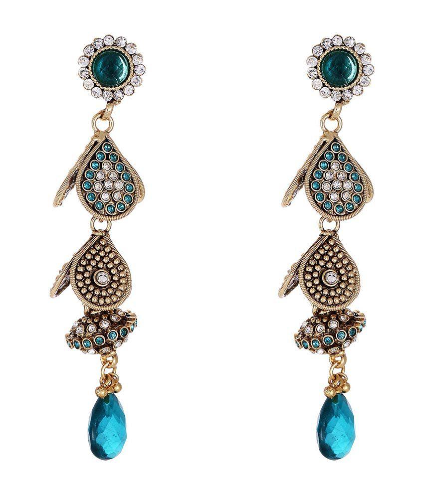 Shahenaz Red Copper Designer Earring