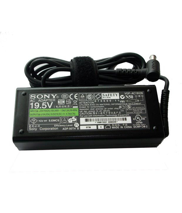 Arb Laptop Adapter For Sony Vgnsz480n Vgn-sz480n 19.5v 4.74a 90w Connector Pin : 6.5 X 4.4 Mm