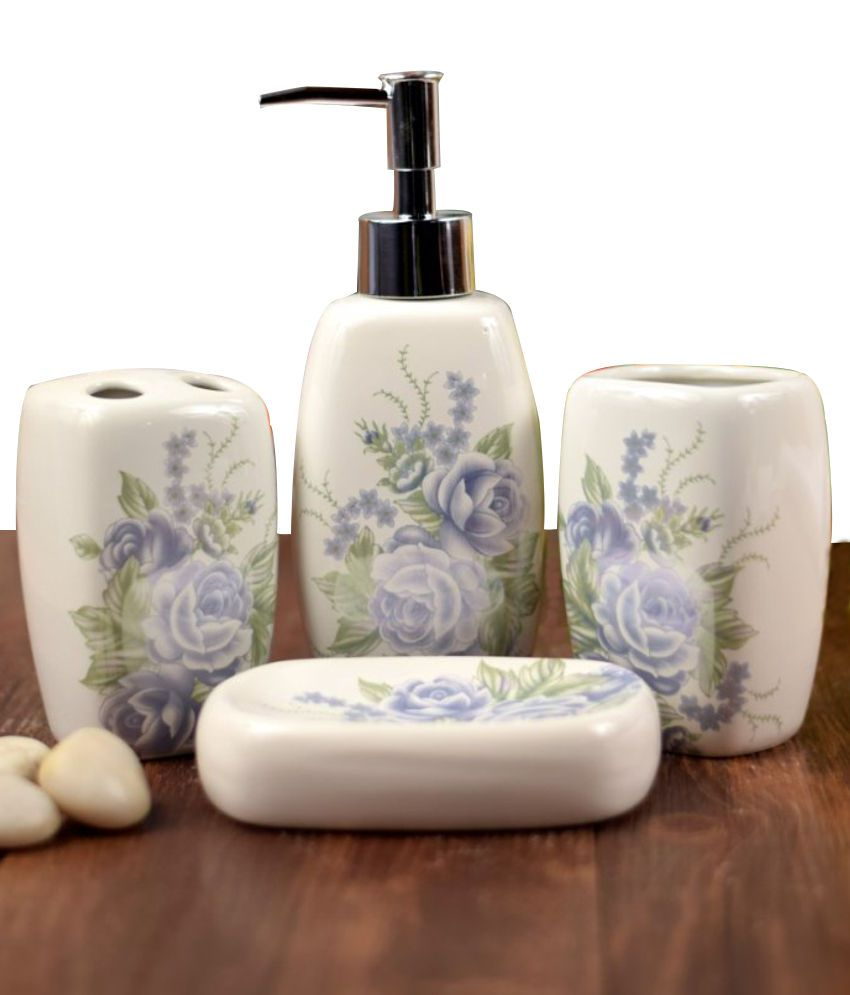 Buy enfin homes porcelain bath sets online at low price in for Bathroom accessories india online