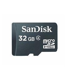 Sandisk Microsdhc 32gb Flash Memory Card, Black, Sdsdqm-032g-b35 (retail Packaging)