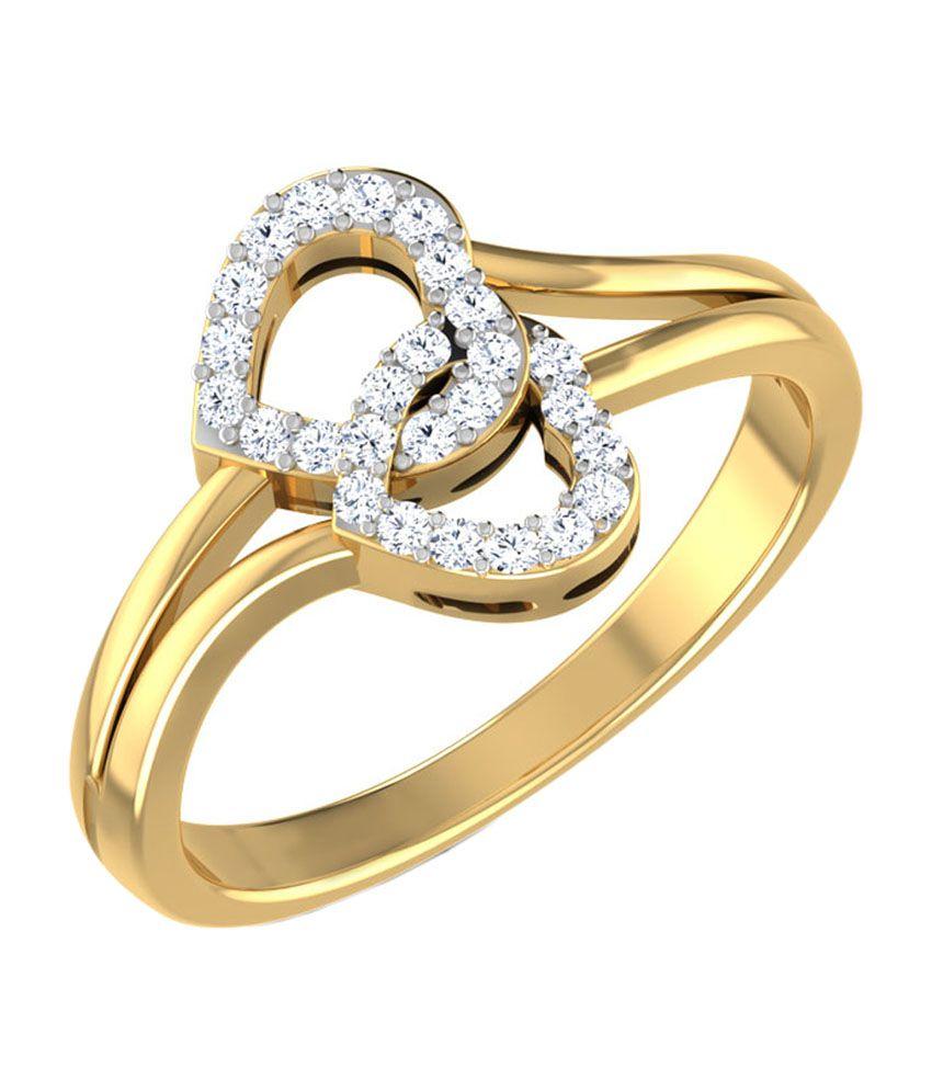 Caratlane Entangled Heart Ring