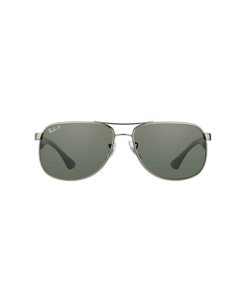 766ec92cb0e ... Ray-Ban Green Polarized Aviator Sunglasses (RB3502 004 58 61-14) ...