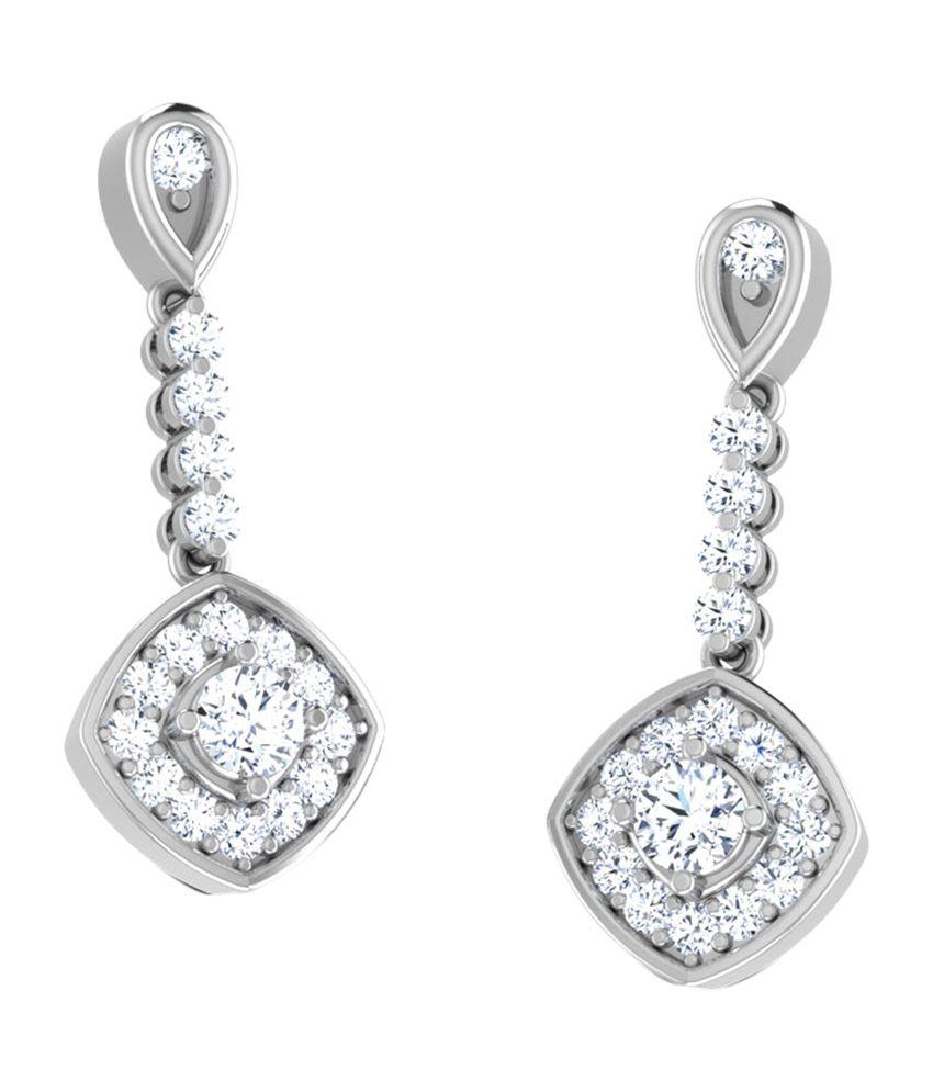 Caratlane Pendulum Pattern Drop Earrings