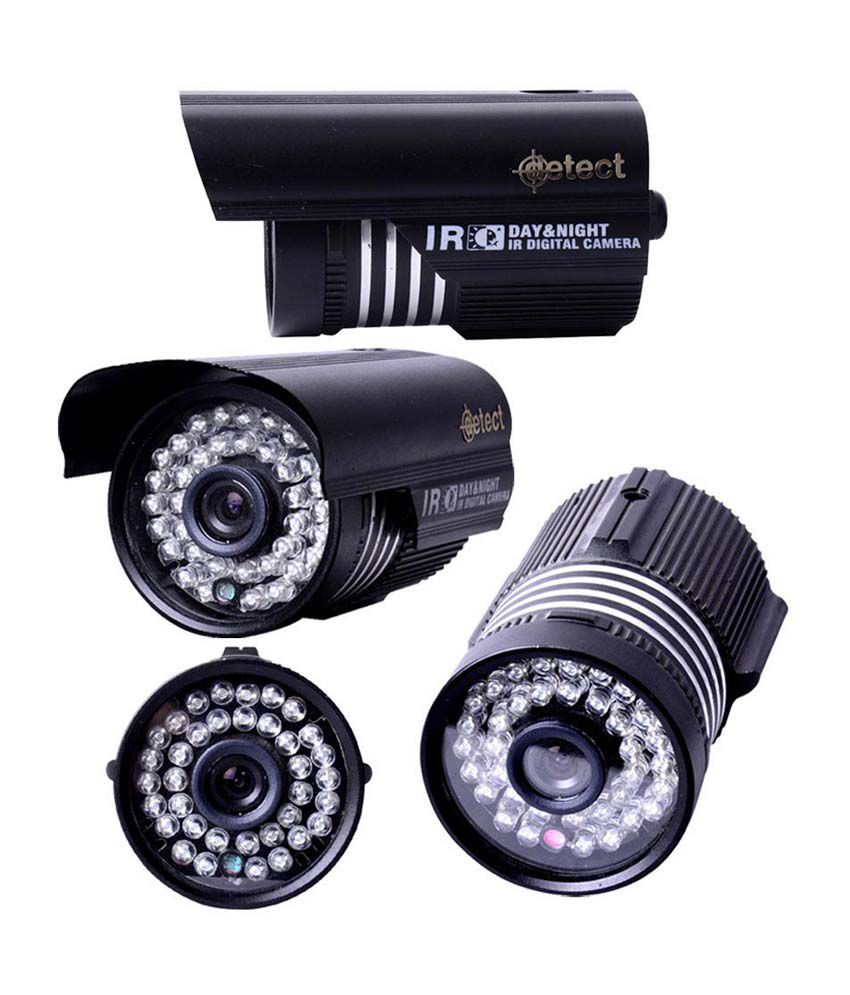 Detect 700TVL 3.6mm Lens Bullet CCTV Camera