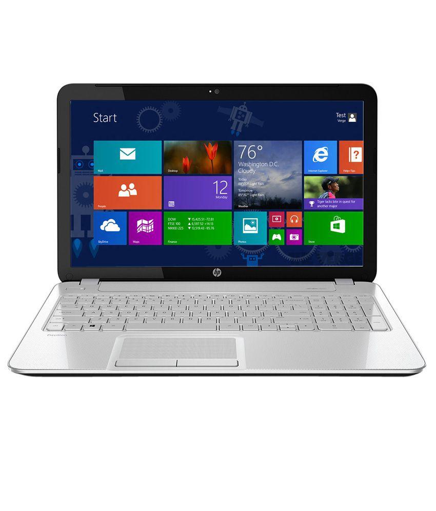 HP Pavilion 15-p202TU Notebook (K8U12PA) (5th Gen Intel Core i3- 4GB RAM- 1TB HDD- 39.62cm (15.6)- Windows 8.1) (Snow White)