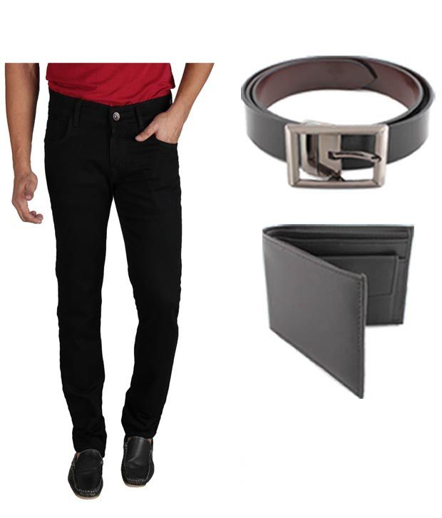 Keepsake Combo Of Mens Jeans With Wallet & Belt